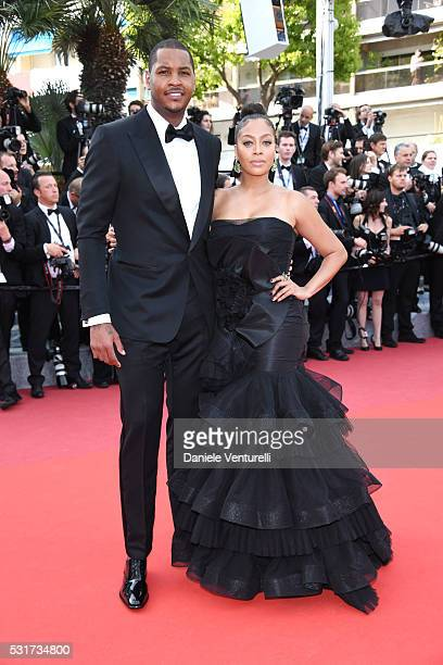 "Carmelo Anthony and La La Anthony attend the ""Loving"" premiere during the 69th annual Cannes Film Festival at the Palais des Festivals on May 16,..."