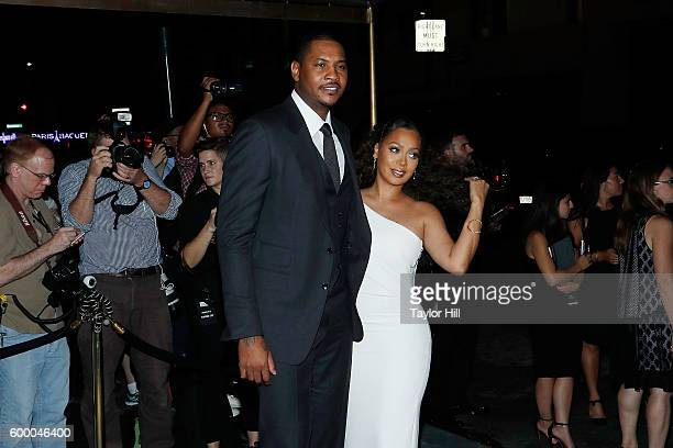 Carmelo Anthony and La La Anthony attend the Tom Ford Fall 2016 fashion show during New York Fashion Week September 2016 at The Four Seasons on...
