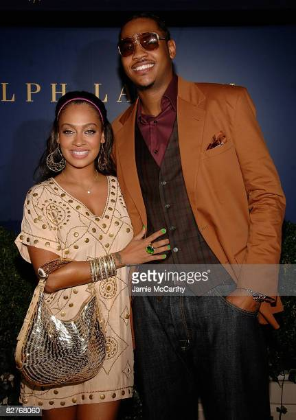 Carmelo Anthony and LaLa Vasquez attend a Cocktail Party For The Labron James Family Foundation hosted by Ralph Lauren Labron James at Ralph Lauren...