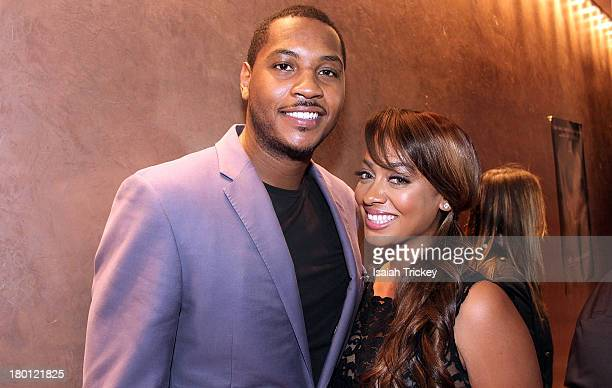 Carmelo Anthony and Wife La La Anthony are sighted at Isabel Bader Theatre on September 8 2013 in Toronto Canada