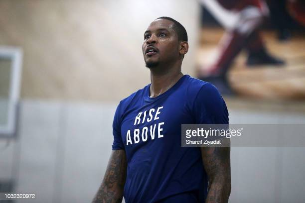 Carmelo Anthony attends Black Ops Basketball Run on September 12, 2018 in New York City.