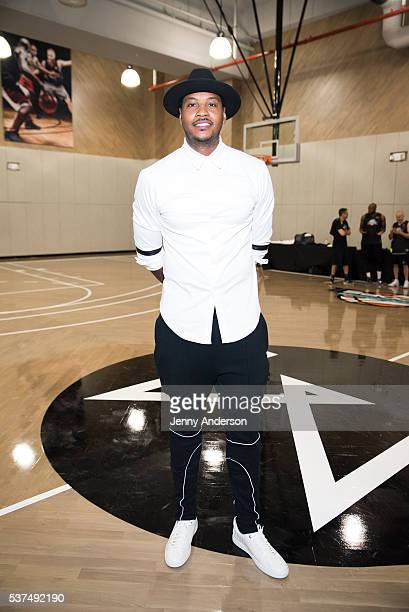 Carmelo Anthony attends Life Time Athletic At Sky Grand Opening on June 1 2016 in New York City