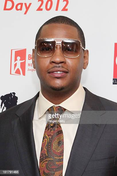 Carmelo Anthony attends the Annual Charity Day hosted by Cantor Fitzgerald and BGC Partners on September 11 2012 in New York United States