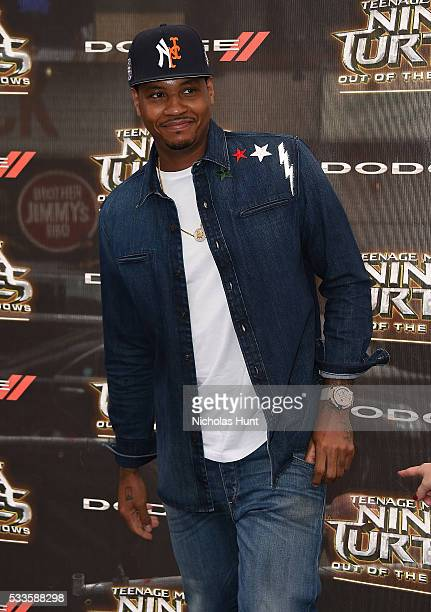 "Carmelo Anthony attends the New York Premiere of the Paramount Pictures title ""Teenage Mutant Ninja Turtles Out of the Shadows"" on May 22 2016 at..."