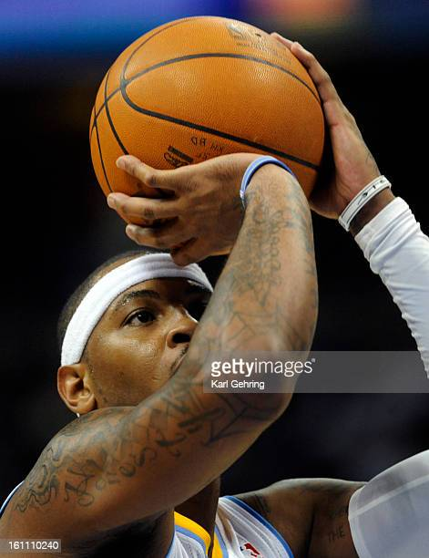 Carmelo Anthony focused on a freethrow in the second half The Denver Nuggets defeated the Sacramento Kings 10486 at the Pepsi Center Saturday night...