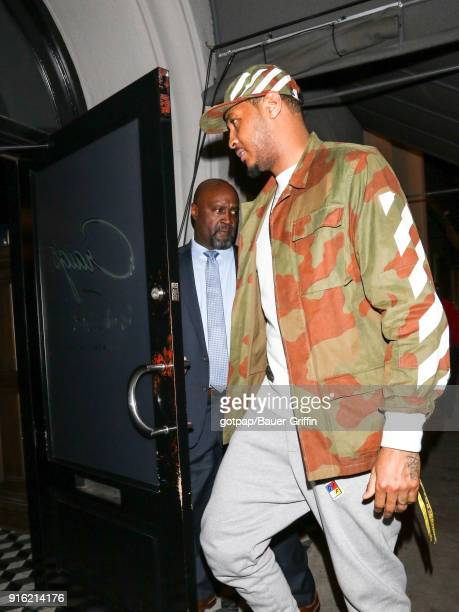 Carmelo Anthony is seen on February 08 2018 in Los Angeles California