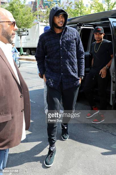 Carmelo Anthony is spotted in Soho on September 10 2017 in New York City