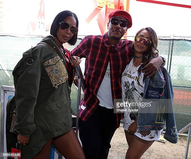 Carmelo Anthony Kelly Rowland and Lala Anthony attend 2016 Made In America Festival Day 2 on September 4 2016 in Philadelphia Pennsylvania