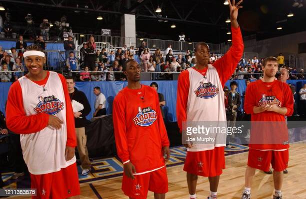 Carmelo Anthony of the Denver Nuggets, Ben Gordon of the Chicago Bulls, Dwight Howard of the Orlando Magic, and Beno Udrih of the San Antonio Spurs...