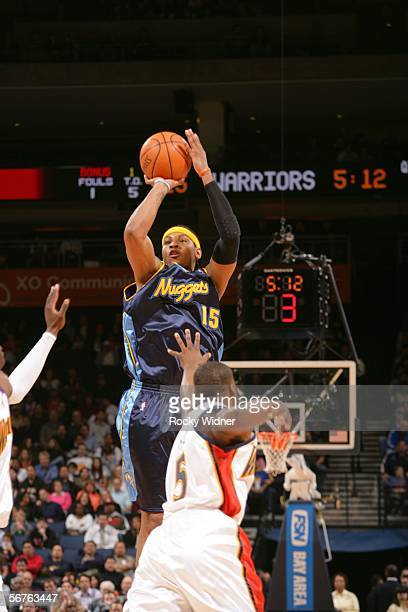 Carmelo anthony jumpshot getty images carmelo anthony of the denver nuggets takes the jump shot against baron davis of the golden voltagebd Choice Image