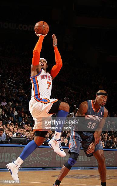 Carmelo anthony jumpshot stock photos and pictures getty images carmelo anthony of the new york knicks takes a jump shot during the first quarter against voltagebd Choice Image