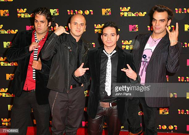 Carmelo de Cianuro arrives during rehearsals for Los Premios MTV Latin America 2007 at El Palacio de Los Deportes on October 18 2007 in Mexico City...