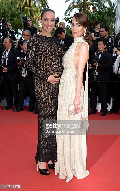 Carmen and Dolores Chaplin attend the 'Madagascar 3 Europe's Most Wanted' Premiere during the 65th Annual Cannes Film Festival at Palais des...