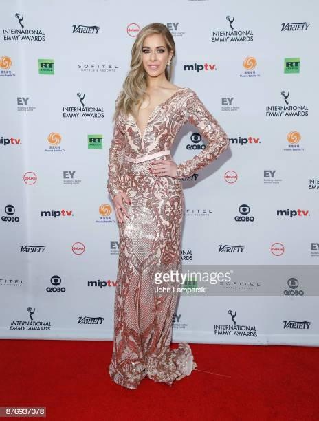 Carmen Aub attends 45th International Emmy Awards at New York Hilton on November 20 2017 in New York City