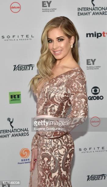 Carmen Aub attends International Emmy Awards Red Carpet at New York Hilton Midtown on November 20 2017 in New York City