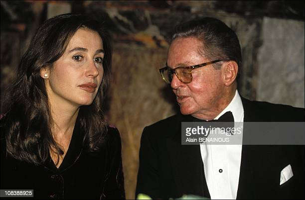 Carmen Bordiu and baron of rede in Versailles France on November 03 1993