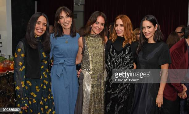 Carmen Borgonovo Samantha Cameron Alison Loehnis Dorit Baror and Ana Khouri attend a cocktail party in honour of Alison Loehnis' 10 year anniversary...