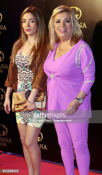 Carmen Borrego and Carmen Rosa Almoguera attend the 'Alejandra Rubio's birthday photocall' at Gabana disco on April 5 2018 in Madrid Spain