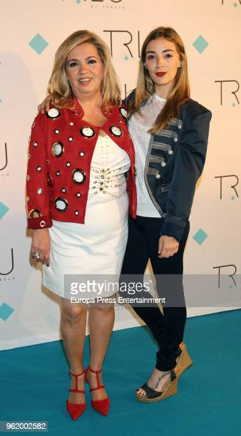 Carmen Borrego and her daughter Carmen Almoguera attend the presentation of the launching of Terelu Campos's first jewellry collection 'TRLU' on May...