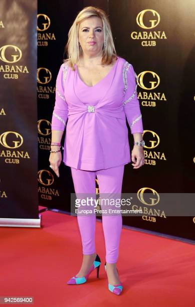 Carmen Borrego attends the 'Alejandra Rubio's birthday photocall' at Gabana disco on April 5 2018 in Madrid Spain