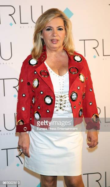 Carmen Borrego attends the presentation of the launching of Terelu Campos's first jewellry collection 'TRLU' on May 23 2018 in Madrid Spain