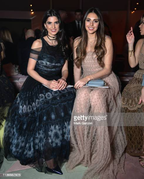 Carmen Bseibes and Valerie Abou Chacra attend the Christian Dior Haute Couture Spring Summer 2019 Collection show at Safa Park on March 18, 2019 in...