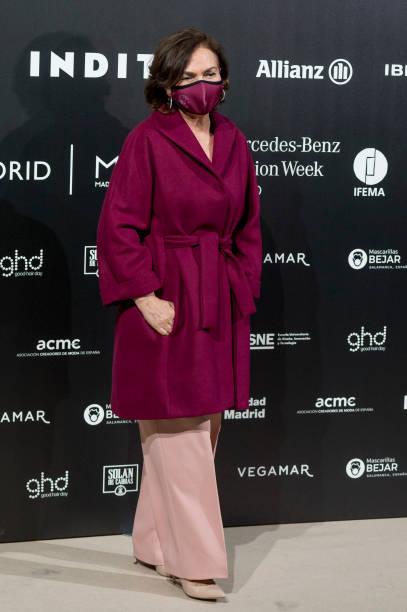 ESP: Celebrities - Day 3 - Mercedes Benz Fashion Week Madrid - April 2021