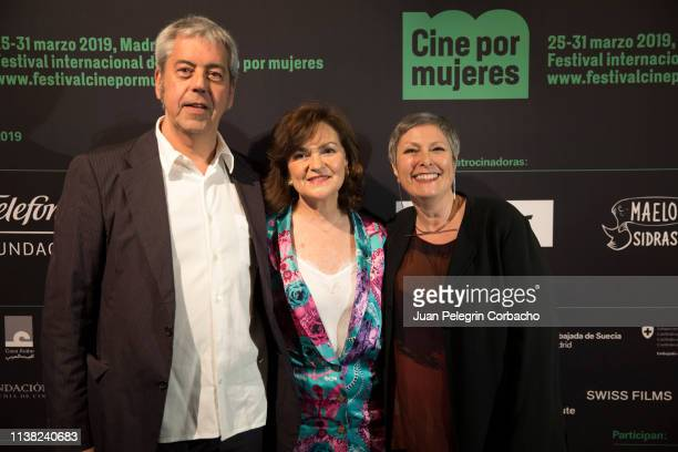 Carmen Calvo Spanish government vice president attends the inauguration of 'Cine Por Mujeres' Festival at Palacio de la Prensa on March 25 2019 in...