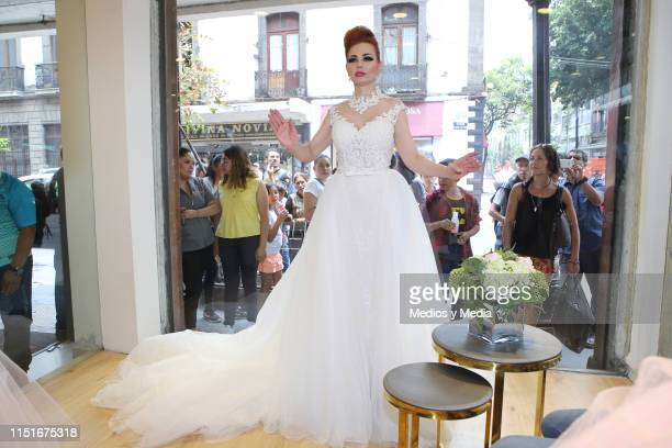 Carmen Campuzano during a performance as part of an event at the Rafael Hernandez' Store on May 25 2019 in Mexico City Mexico