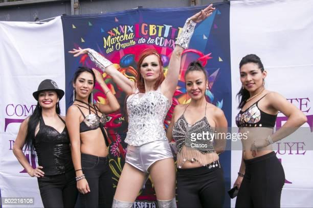 Carmen Campuzano poses during a Gay Pride Parade on June 24 2016 in Mexico City Mexico