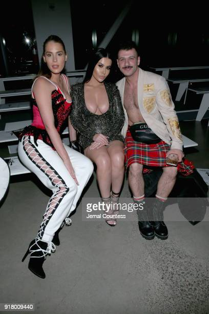 Carmen Carrera Amra Olevic and Sammy M attends The Blonds front row during New York Fashion Week The Shows at Gallery I at Spring Studios on February...
