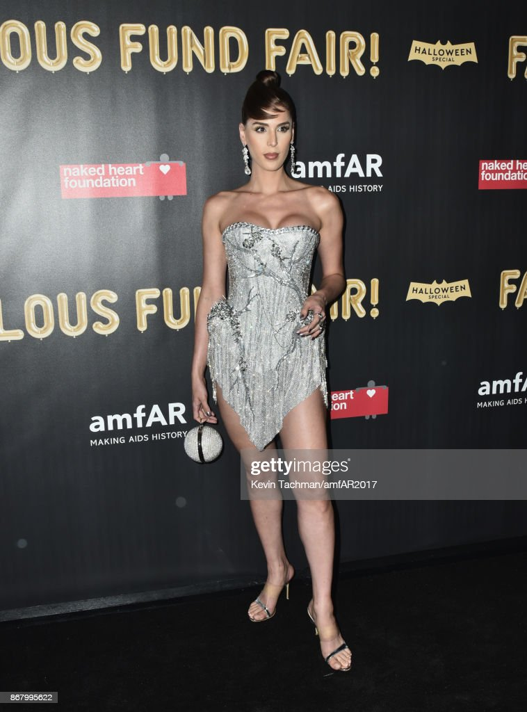 Carmen Carrera at the 2017 amfAR & The Naked Heart Foundation Fabulous Fund Fair at the Skylight Clarkson Sq on October 28, 2017 in New York City.