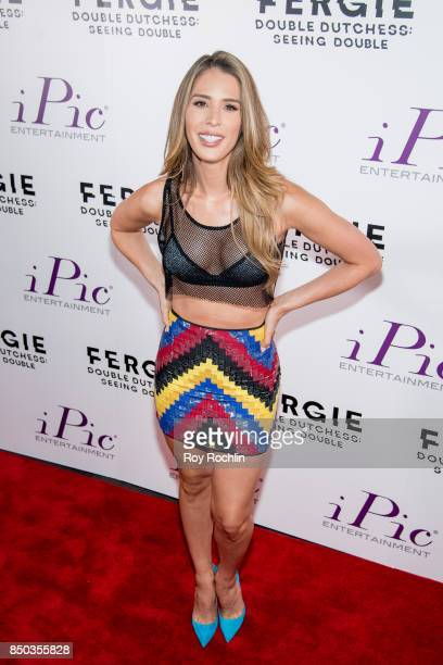 Carmen Carrera attends 'Fergie Double Dutchess Seeing Double the Visual Experience' OneNight Premiere at iPic Fulton Market on September 20 2017 in...