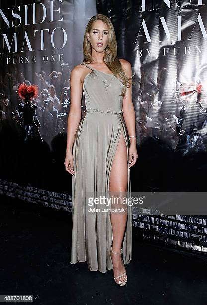 Carmen Carrera attends 'Inside Amato' New York premiere at Liberty Theater on September 16 2015 in New York City