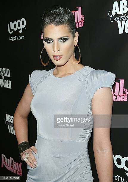 Carmen Carrera attends RuPaul's Drag Race Season 3 Premiere Party sponsored by ABSOLUT at RAGE Nightclub on January 18 2011 in West Hollywood...