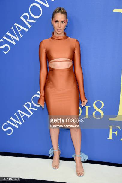 Carmen Carrera attends the 2018 CFDA Fashion Awards at Brooklyn Museum on June 4 2018 in New York City