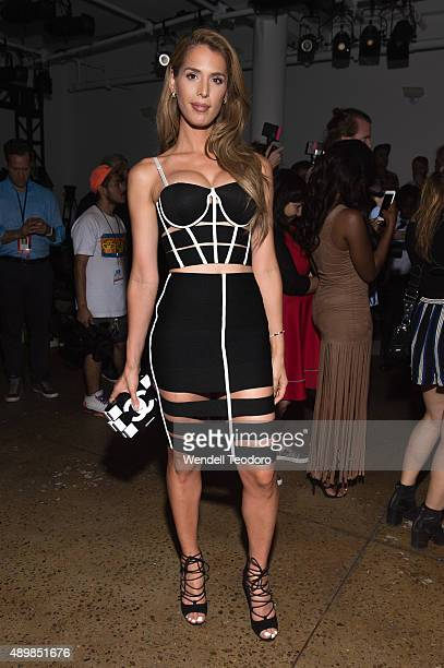 Carmen Carrera attends The Blondes show at Milk Studios as part of the 'NYFW The Shows' Spring 2016 New York Fashion Week on September 16 2015 in New...