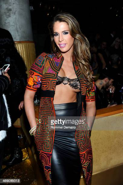 Carmen Carrera attends The Blonds After Party Fall 2014 Mercedes Benz Fashion Week at Gilded Lily on February 12 2014 in New York City
