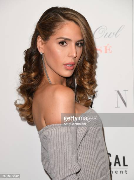 Carmen Carrera attends the premiere of 'Blind' at Landmark Sunshine Cinema on June 26 2017 in New York City / AFP PHOTO / ANGELA WEISS