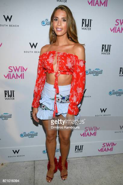 Carmen Carrera attends the SWIMMIAMI Sports Illustrated Swimsuit 2018 Collection at WET Deck at W South Beach on July 22 2017 in Miami Beach Florida