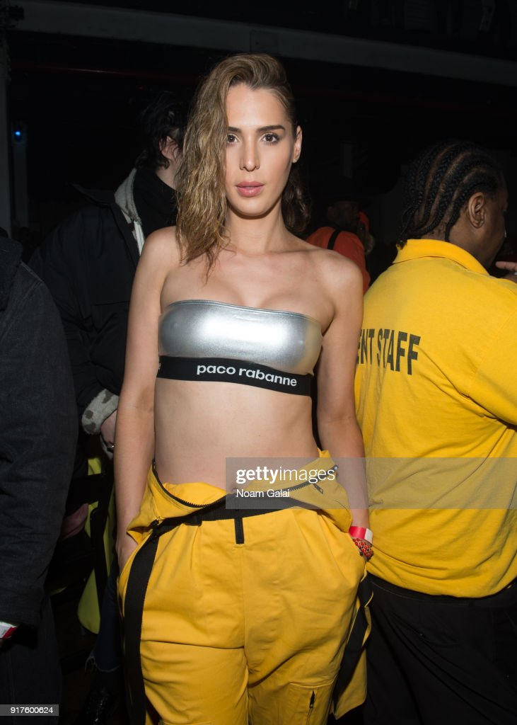 Carmen Carrera attends the VFILES fashion show during New York Fashion Week at Terminal 5 on February 12, 2018 in New York City.