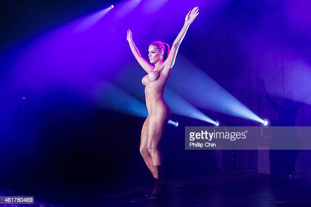 Carmen Carrera performs at RuPaul's Drag Race 2014 Battle of the Seasons Tour at the Commodore Ballroom on January 10 2014 in Vancouver Canada