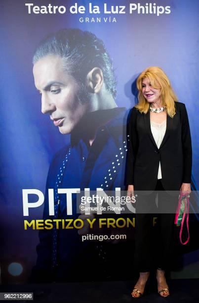Carmen Cervera attends 'Pitingo Mestizo Y Fronterizo' Madrid Premiere on May 24 2018 in Madrid Spain