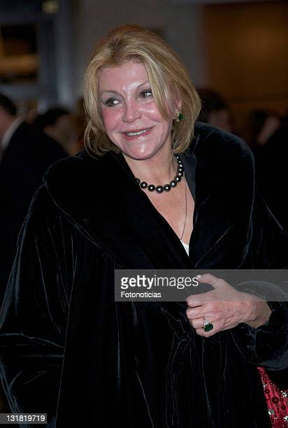 Carmen Cervera Baroness Thyssen attends 'Ifigenia en Tauride' opera concert at The Royal Theatre on January 25 2011 in Madrid Spain