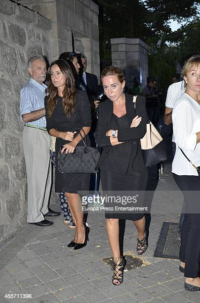 Carmen Chacon attends the funeral chapel for Isidoro Alvarez president of El Corte Ingles who died at 79 aged on September 14 2014 in Madrid Spain