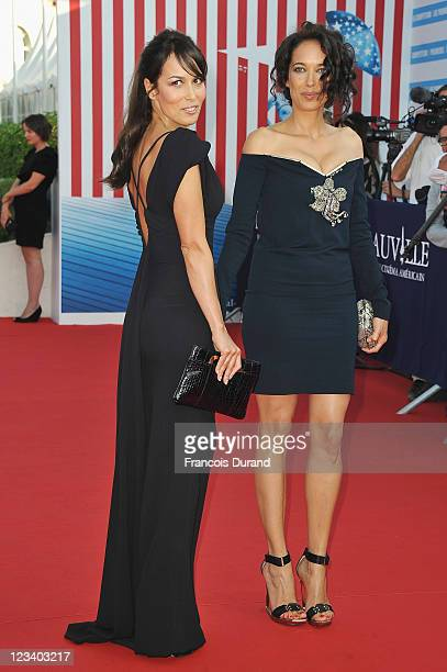 Carmen Chaplin and Dolores Chaplin arrive at the opening ceremony of the 37th Deauville American Film Festival on September 2 2011 in Deauville France