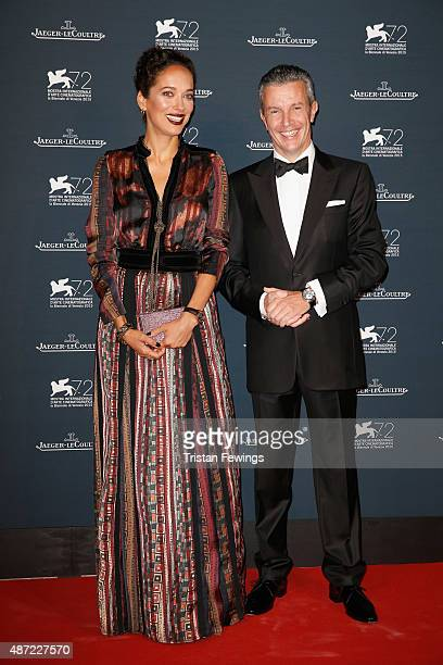 Carmen Chaplin and JaegerLeCoultre Ceo Daniel Riedo attend the JaegerLeCoultre gala event celebrating 10 years of partnership with La Mostra...