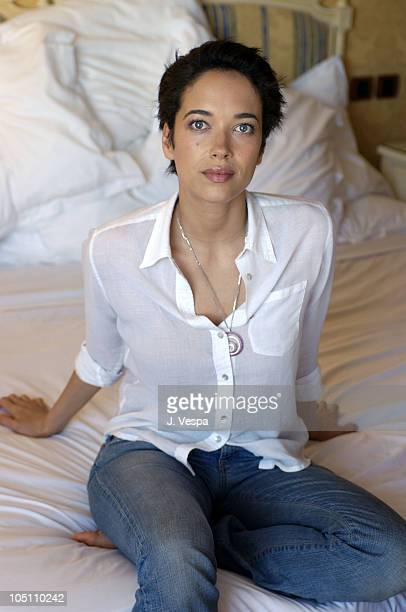 Carmen Chaplin during 2003 Cannes Film Festival Dolores and Carmen Chaplin Portraits at Chopard Suite at The Majestic Hotel in Cannes France