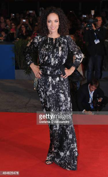 Carmen Chaplini arrives for the screening of the movie 'Pasolini' presented in competition at the 71st Venice Film Festival on September 4 2014 in...