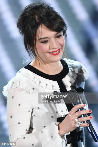Carmen Consoli attends the opening night of the 67th Sanremo Festival 2017 at Teatro Ariston on February 7 2017 in Sanremo Italy